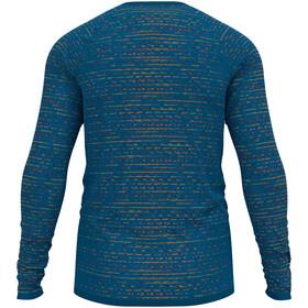 Odlo Blackcomb Ceramicool T-Shirt L/S Crew Neck Men, azul